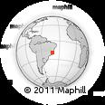 Outline Map of Governador Valadares, rectangular outline