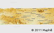 Physical Panoramic Map of Besangajy