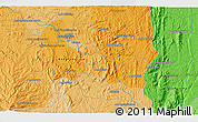 """Political 3D Map of the area around 19°2'1""""S,47°40'29""""E"""