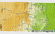 """Physical 3D Map of the area around 19°2'1""""S,48°31'29""""E"""