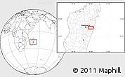 Blank Location Map of Moramanga