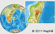 Physical Location Map of Moramanga