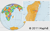 Political Location Map of Moramanga