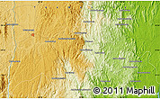 Physical Map of Moramanga
