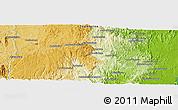 Physical Panoramic Map of Moramanga