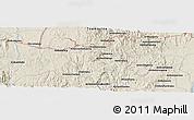 Shaded Relief Panoramic Map of Moramanga