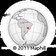 Outline Map of Uberlândia, rectangular outline