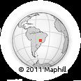 Outline Map of Prata, rectangular outline