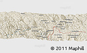 "Shaded Relief Panoramic Map of the area around 19° 2' 1"" S, 65° 22' 30"" W"