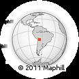 Outline Map of Macha, rectangular outline