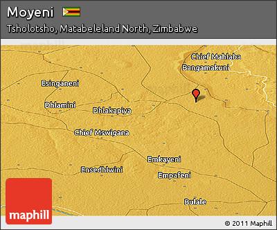 Free Physical Panoramic Map of Moyeni