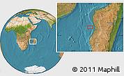 "Satellite Location Map of the area around 19°32'24""S,43°25'29""E"