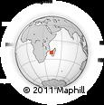 "Outline Map of the Area around 19° 32' 24"" S, 43° 25' 29"" E, rectangular outline"