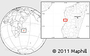 """Blank Location Map of the area around 19°32'24""""S,44°16'29""""E"""