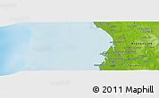 Physical Panoramic Map of Andopitaly
