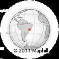 Outline Map of Ribeirão Das Neves, rectangular outline