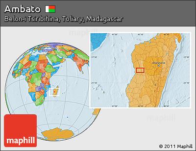 Political Location Map of Ambato