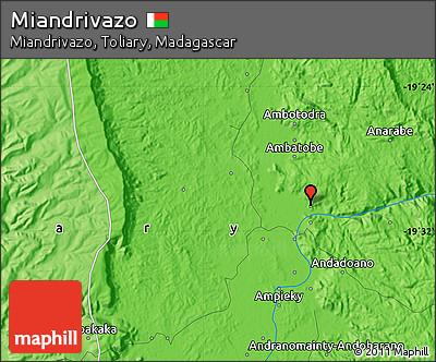 Political Map of Miandrivazo