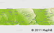 "Physical Panoramic Map of the area around 19° 32' 24"" S, 45° 7' 30"" E"