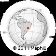 Outline Map of Araxá, rectangular outline