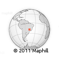 Outline Map of Mogiana, rectangular outline
