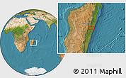 "Satellite Location Map of the area around 19°32'24""S,48°31'29""E"