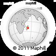 Outline Map of Vatomandry, rectangular outline