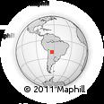 Outline Map of Itamirajara, rectangular outline