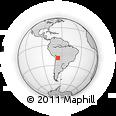 Outline Map of Potosí, rectangular outline