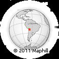 Outline Map of Salinas De Garci Mendoza, rectangular outline