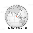 """Outline Map of the Area around 1° 13' 33"""" N, 100° 22' 30"""" E, rectangular outline"""