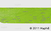 """Physical Panoramic Map of the area around 1°13'33""""N,100°22'30""""E"""