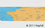 """Political Panoramic Map of the area around 1°13'33""""N,100°22'30""""E"""