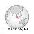 """Outline Map of the Area around 1° 13' 33"""" N, 101° 13' 29"""" E, rectangular outline"""
