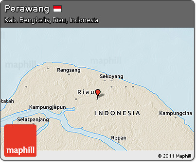 Free Shaded Relief 3d Map Of Perawang