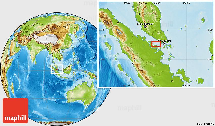 Physical Location Map Of Perawang