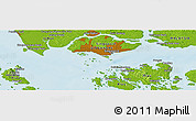 Physical Panoramic Map of Singapore