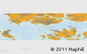 Political Panoramic Map of Singapore