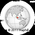Outline Map of Bintan Island, rectangular outline