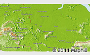 """Physical 3D Map of the area around 1°13'33""""N,110°34'29""""E"""