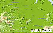 """Physical Map of the area around 1°13'33""""N,110°34'29""""E"""