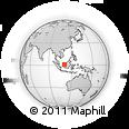Outline Map of Kota Samarahan, rectangular outline