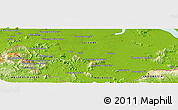 """Physical Panoramic Map of the area around 1°13'33""""N,110°34'29""""E"""