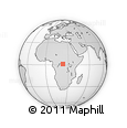 Outline Map of Baringa, rectangular outline