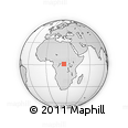 Outline Map of Kangala, rectangular outline