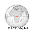 Outline Map of Bunga, rectangular outline