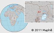 Gray Location Map of Kabonerwa