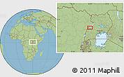 Savanna Style Location Map of Kabonerwa