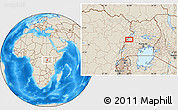 Shaded Relief Location Map of Kabonerwa