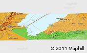 Political Panoramic Map of Kabonerwa